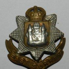 Militaria: INSIGNIA DE GORRA EAST SURREY, BRITISH MILITARY, METAL CAP - BERET BADGE MADE IN THE UK. MIDE 4,2 C. Lote 144332974