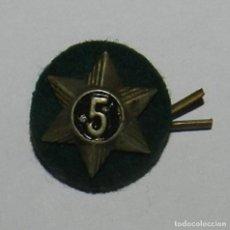 Militaria: INSIGNIA DE SOLAPA, ESTRELLA CON 6 PUNTAS, NUMERO 5, POSIBLEMENTE DE LA ROYAL ARMY, , REVERSO CON AL. Lote 144452482