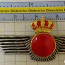 Militaria: INSIGNIA EMBLEMA MILITAR. ROKISKI ROQUISQUI DEL EJÉRCITO DEL AIRE. DOBLE PIN. 20GR. Lote 165052346