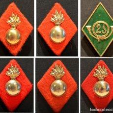 Militaria: LOTE DE 6 ANTIGUOS ROMBOS ROMBO DEL EJERCITO ESPAÑA. Lote 145225302