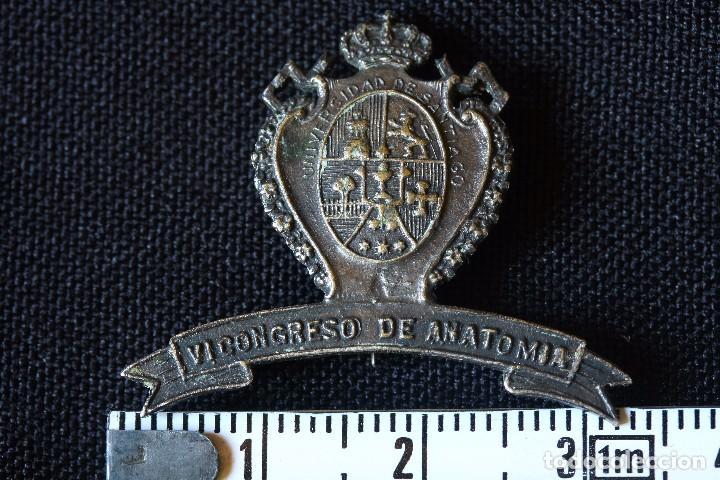 Militaria: INSIGNIA ALFILER-UNIVERSIDAD DE SANTIAGO-VI CONGRESO DE ANATOMIA - Foto 3 - 145767794