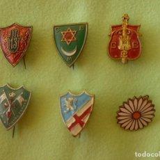 Militaria: INSIGNIAS GUERRA CIVIL . MARGARITA CARLISTA, 13 DIVISIÓN, BATALLÓN 51, .... ORIGINALES. Lote 145832546