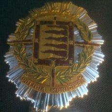 Militaria: ANTIGUA PLACA DE PECHO DE LA POLICIA MUNICIPAL LOCAL DE VALLADOLID. Lote 146959590