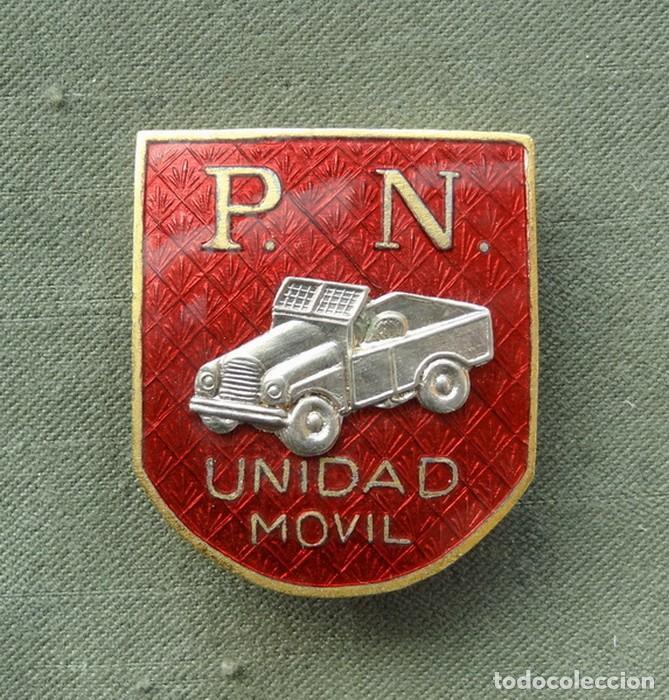 DISTINTIVO POLICÍA NACIONAL SERVICIO DE UNIDAD MOVIL (ESMALTADO) (Militar - Insignias Militares Españolas y Pins)