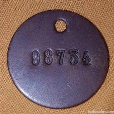 Militaria: PLACA CHAPA IDENTIFICACIÓN GUDARI SOLDADO VASCO GUERRA CIVIL. Lote 147914114