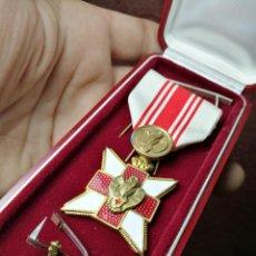 Militaria: CRUZ ROJA BELGA ORDEN DONANTE DE SANGRE 2ª GM..Y PASADORES . Lote 148751554
