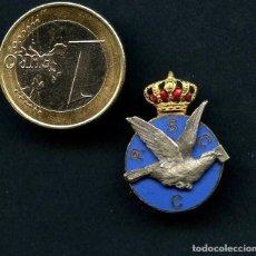 Militaria: ALFONSO XIII, INSIGNIA, REAL SOCIEDAD COLOMBOFILIA CATALUÑA, GRABADOR: CASTELLS. Lote 149256370