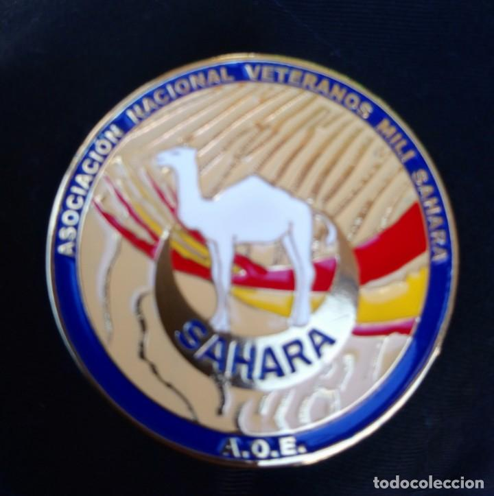 CHAPA DE LA ASOCIACIÓN NACIONAL DE MILI EN SÁHARA ÁFRICA LEGION ESPAÑOLA REGULARES (Militaria - Spanische militärische Abzeichen und Pins)