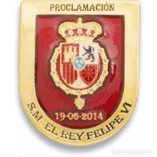 Militaria: EXCELENTE DISTINTIVO PROCLAMACIÓN DE SM. FELIPE VI- PRECIOSO ESMALTADO. Lote 102526114
