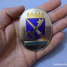 Militaria: * PLACA DE POLICIA DE EL PRAT DE LLOBREGAT, CATALUNYA, ORIGINAL. ZX. Lote 151396742