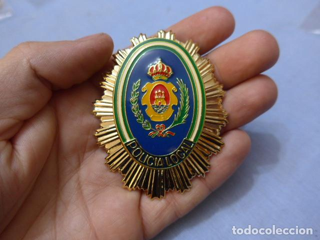* PLACA DE POLICIA DE ALGECIRAS, ANDALUCIA, ORIGINAL. ZX (Militar - Insignias Militares Españolas y Pins)
