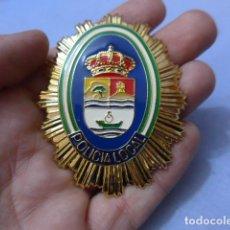Militaria: * PLACA DE POLICIA DE RINCON DE LA VICTORIA, VERSION RAFAGA DORADA, ANDALUCIA, ORIGINAL. ZX. Lote 151401130