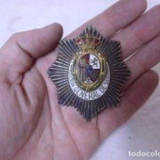 Militaria: ANTIGUA PLACA EMBLEMA DE DIRECCION GENERAL CUERPO DE SEGURIDAD ALFONSINA, ALFONSO XIII, ORIGINAL.. Lote 151422046