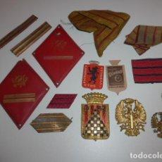 Militaria: LOTE DE INSIGNIAS Y GALONES ESPAÑOLES MILITARES, ORIGINALES. DE GUERRA CIVIL A AÑOS 70.. Lote 151632806