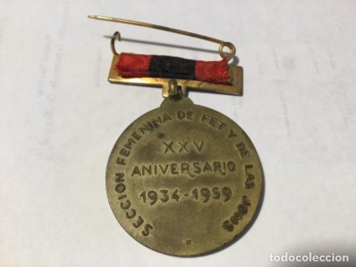 Militaria: Medalla conmemorativa José Antonio Sección Femenina JONS - Foto 2 - 152251926