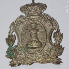 Militaria: CHAPA ROS INGENIEROS ÉPOCA ALFONSO XIII. CASTELLS BARCELONA. Lote 153124410