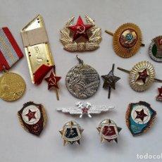 Militaria: URSS - UNIÓN SOVIÉTICA : LOTE DE 15 INSIGNIAS SOVIÉTICAS DIVERSAS. ENVÍO GRATUITO CERTIFICADO.. Lote 153240214