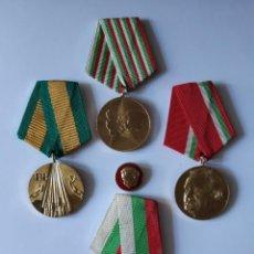Militaria: LOTE DE MEDALLAS BULGARIA. Lote 153336938