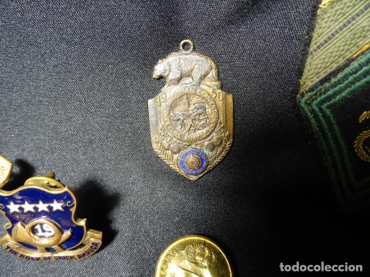 Militaria: Lote militar de 37 piezas: insignias, emblemas, parches, botones de España,Inglaterra,Francia, EE.UU - Foto 6 - 154139354