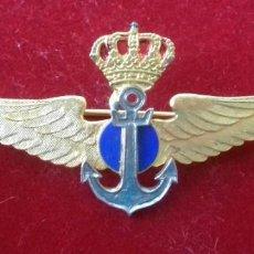 Militaria: INSIGNIA PILOTO NAVAL OFICIAL TACTICO NAVEGANTE - AÑOS 80. Lote 154247406
