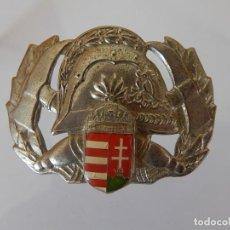 Militaria: DISTINTIVO METÁLICO DE BOMBEROS. POSIBLEMENTE DE HUNGRÍA.. Lote 154308798