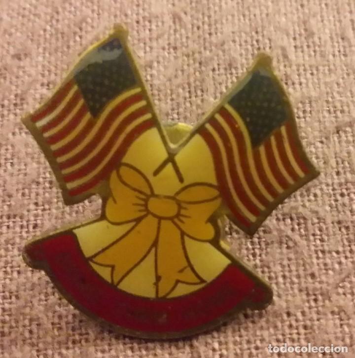 Militaria: INSIGNIA MILITAR. PIN. BRING THEM HOME. 1991 GUERRA DEL GOLFO PÉRSICO. TORMENTA DEL DESIERTO. U.S.A. - Foto 2 - 154521242