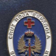Militaria: DISTINTIVO DE SERVICIO MILITAR EN LA CRUZ ROJA ESPAÑOLA. ESMALTE AL FRÍO. 34 X 25 MM.. Lote 156838998