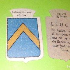 Militaria: LLUCH - EMBLEMA AUXILIO SOCIAL DE SOLAPA - SERIE B Nº 114 - 30 CENTIMOS -GUERRA CIVIL/POSTGUERRA. Lote 157791566