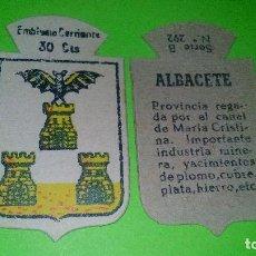Militaria: ALBACETE - EMBLEMA AUXILIO SOCIAL DE SOLAPA - SERIE B Nº 292 - 30 CENTIMOS -GUERRA CIVIL/POSTGUERRA. Lote 157791742