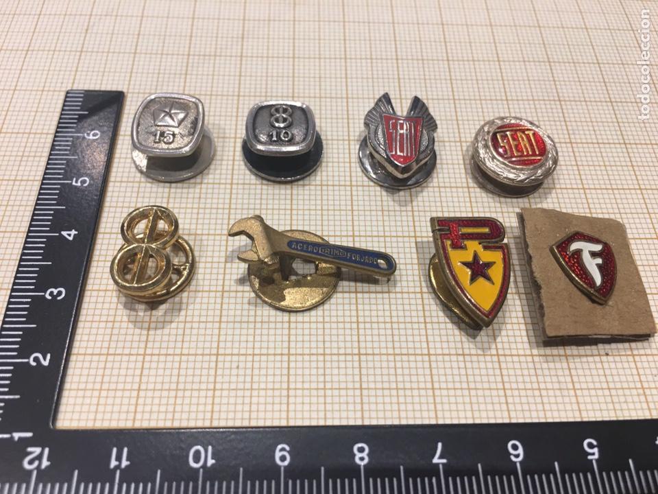 LOTE 8 PIN OJAL RELACIONADO VEHICULO (Militar - Insignias Militares Españolas y Pins)