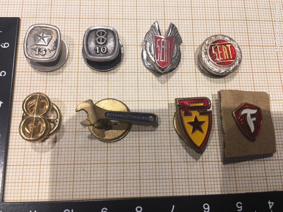 Militaria: Lote 8 pin ojal relacionado vehiculo - Foto 2 - 158390486