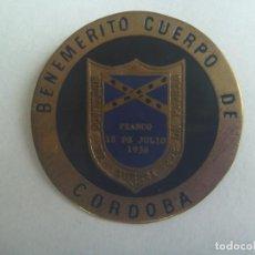 Militaria: GUERRA CIVIL : PLACA DEL BENEMERITO CUERPO DE MUTILADOS DE GUERRA DE CORDOBA. Lote 158909310