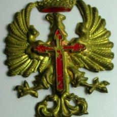 Militaria: ANTIGUA INSIGNIA PARA CASCO O BOINA, AGUILA CON CORONA IMPERIAL. Lote 158992882