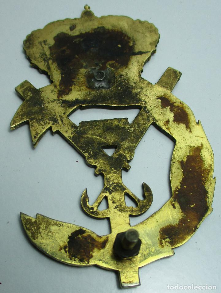 Militaria: Antigua insignia, emblema, ESCUELA NAVAL MILITAR ?? - Foto 2 - 158993194