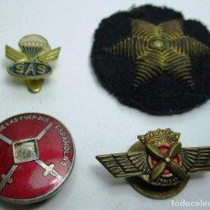 Militaria: ANTIGUAS INSIGNIAS, EMBLEMAS, PINS SAS, PARACAIDISTAS, AVIACIÓN, PILOTO, EXCOMBATIENTE. Lote 159151718