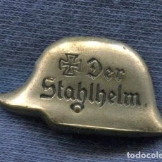 Militaria: ALEMANIA III REICH. INSIGNIA DE SOLAPA DEL STAHLHELM.. Lote 159200794