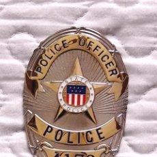 Militaria: PLACA POLICE OFFICER. POLICE STATE. EE.UU.. Lote 159269114