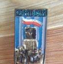 Militaria: INTERESANTE ANTIGUO PIN AGUJA DEL CAMPO DE CONCENTRACION AUSCHWITZ BIRKENAU MUY DIFICIL DE CONSEGUIR. Lote 159336510