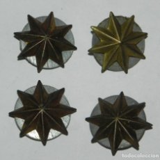 Militaria: LOTE DE 4 ESTRELLAS ANTIGUAS DE 8 PUNTAS, CORONEL, COMANDANTE, MIDE 2,5 CMS.. Lote 159500618