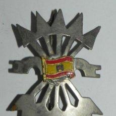 Militaria: INSIGNIA DE FALANGE. YUGO Y FLECHAS CON BANDERA DE ESPAÑA EN EL CENTRO, MIDE 6 CMS DE ALTO, REVERSO . Lote 159609202