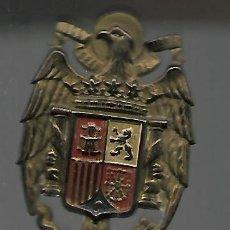 Militaria: ANTIGUA INSIGNIA AGUILA, ESCUDO DE ESPAÑA, FRANCO, FALANGE. 5 X 3,5 CM. VER FOTOS.. Lote 160010010