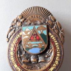 Militaria: PLACA DE AGUJA DIRECCIÓN GENERAL DE SEGURIDAD, ARAGÓN. Lote 160966182