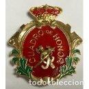 Militaria: DISTINTIVO DE CUADRO DE HONOR DE LA GUARDIA CIVIL COLEGIO DE GUARDIAS JOVENES CON IMPERDIBLE TRASERO. Lote 161345658