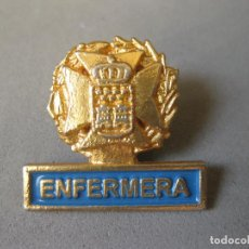 Militaria: INSIGNIA DE PIN DE ENFERMERA DE LA COMUNIDAD DE MADRID. Lote 161595810