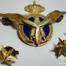 Militaria: PILOTO AVIACIÓN CIVIL INSIGNIA, EMBLEMA + DISTINTIVOS ESTRELLAS 6 PUNTAS. Lote 161711526