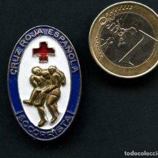 Militaria: INSIGNIA, PIN, CRUZ ROJA ESPAÑOLA, SOCORRISTA, GRABADOR: JME. Lote 163496774