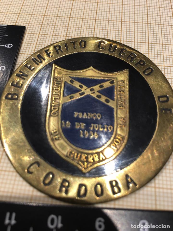 PLACA MUTILADO DE GUERRA POR LA PATRIA- BENEMÉRITO CUERPO DE CORDOBA (Militar - Insignias Militares Españolas y Pins)