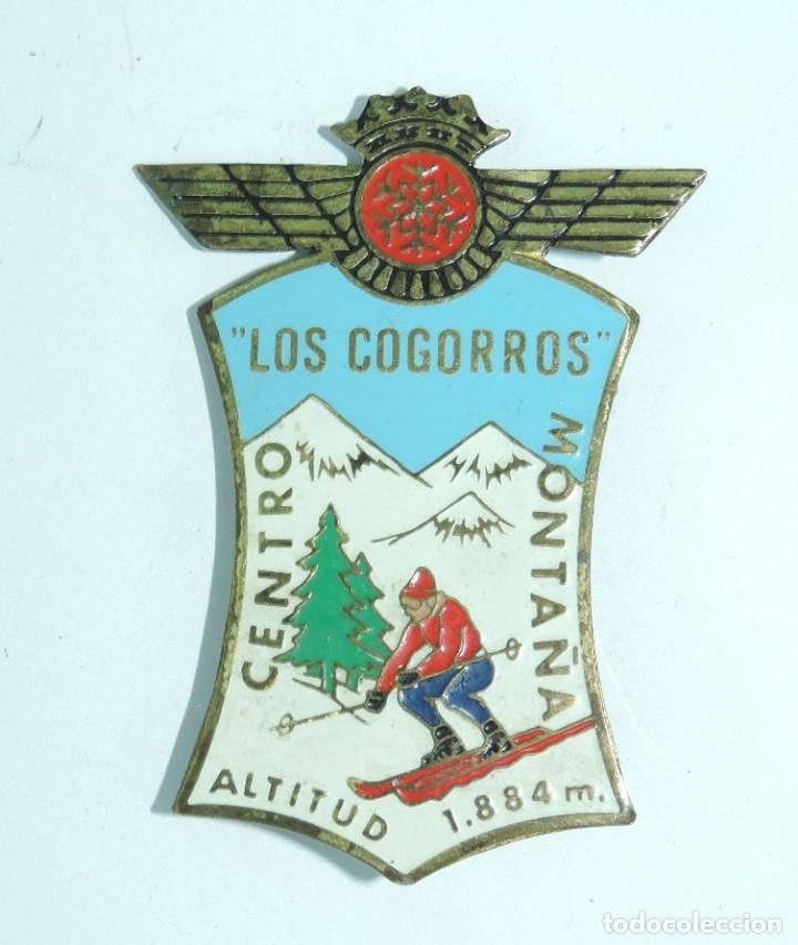 INSIGNIA MILITAR ESMALTADA DEL EJERCITO DEL AIRE, ROKISKI, LOS COGORROS, NAVACERRADA, MADRID, CENTRO (Militar - Insignias Militares Españolas y Pins)