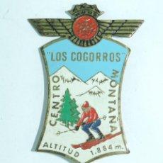 Militaria: INSIGNIA MILITAR ESMALTADA DEL EJERCITO DEL AIRE, ROKISKI, LOS COGORROS, NAVACERRADA, MADRID, CENTRO. Lote 163847114