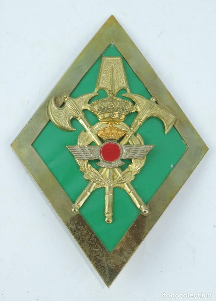 ROMBO DE GASTADOR, AVIACIÓN, GRAN TAMAÑO MIDE 11 X 15,8 CMS. (Militar - Insignias Militares Españolas y Pins)